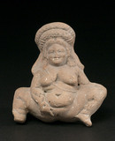 Female fertility figure, Asia Minor, 350-300 BC.