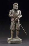 Figure of Saint Fiacre, possibly French, 1600-1800.