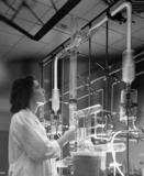 Atomic laboratory experiment on atomic materials, Ohio, USA, 1957.