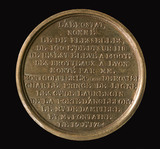 Medal commemorating Montgolfier balloon flight at Lyon, France, 1784.