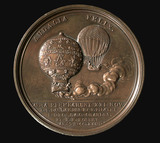 Medal commemorating the invention of the air balloon in 1783, (1784).