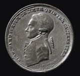Medal commemorating the balloon ascent of Blanchard, Germany, 1785.