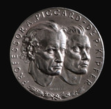 Medal commemorating balloon flight of Piccard and Kipfer, 1931.