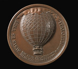 Medal commemorating the first balloon ascents in Italy, 1784.