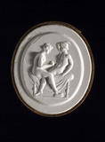 Man and woman engaged in sexual foreplay, Roman?