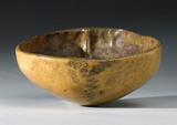 Bowl made of human skull, Tibetan, 18th or 19th century.