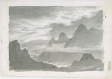 Layers of stratus, wreathing mountain slopes, c 1803-1811.