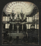 Part of a stereodaguerreotype of statues in the Crystal Palace, c 1855.