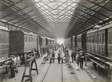 Carriage manufacture at Doncaster works, South Yorkshire, c 1916.