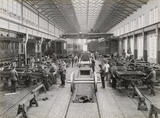 Carriages at Doncaster carriage works, South Yorkshire, c 1916.