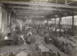 Forge at Doncaster works, South Yorkshire, c 1916.