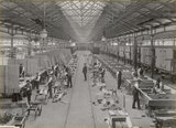 Building wagons at Doncaster works, South Yorkshire, c 1916.