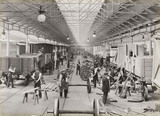 Wagon building at Doncaster works, South Yorkshire, c 1916.