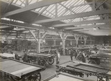 Painting drays at Doncaster works, South Yorkshire, c 1916.