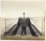 Cable laying machinery on the deck of the SS 'Great Eastern', c 1867.