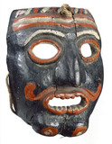 Wooden mask, German?, 16th to 18th centuries.