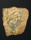 Human skin tattooed with wreathed crescent, probably French, 19th century.