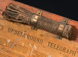 Underground oil-filled telegraph cable system, 1880.