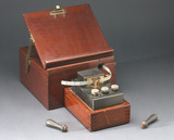Perforator and stand for Wheatstone automatic telegraph system, c 1900.