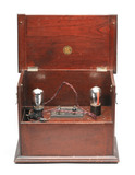 Marconiphone amplifier for use with broadcast receiver, c 1925.