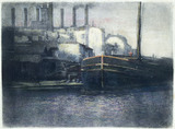 Barges on St. Martin canal, 1916.