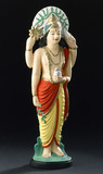 Statue of Dhanvantari, Hindu god of medicine, USA, 2005.