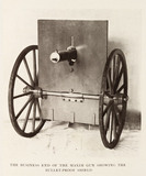 The bullet-proof shield for the Maxim gun.