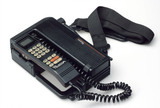 Portable telephone with large battery pack,