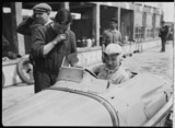 Madame Rose-Itier in her Bugatti racing car, Germany, 1932.