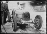 Achille Varzi and his over-heating Bugatti, Nurburgring, Germany, 1931.