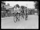 The Labour League of Youth Cycling Club set off on an outing, 1938.