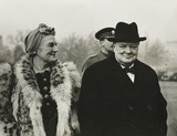 Mr and Mrs Churchill on Home Guards Parade, London, 1941