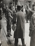 Winston Churchill inspects the Parliamentary Home Guard, 1942.