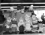 Knitted dolls, February 1981.