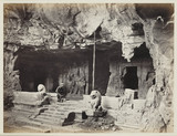 Eastern Cave, Elephanta (Caves of Allora), c.1857.