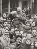 Shrovetide football in Ashbourne, 1947.