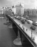 London Bridge and the River Thames, 22 September 1933.