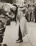 Charlotte Despard speaking at anti-fascist rally, London, c 1930s.