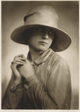 'The Riviera Hat', [Portrait of Mrs Doris Borup], 1929.