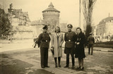 German Army couples, Tours, France, 1940s.