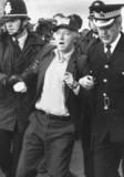 Arthur Scargill being arrested on a picket line, 30 May 1984.