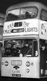 Glasgow Corporation's Christmas lights bus, December 1964.