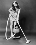 Model with a Vax vacuum cleaner, March 1979.