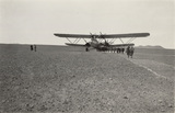 Imperial Airways aircraft in the desert, 1930s.