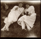 Three young women, Reading, June 1920.