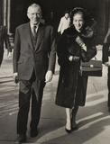 Jack Whittingham and his wife, the Law Courts, London, 22 November 1963.