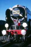 'Clan Line' locomotive on the Golden Arrow cross-Channel boat train service.