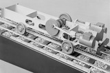 "1:16 scale model of chassis of a ""Riggenbach"" ladder."