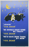 """'We Should Have Gone By Train', BR poster, c 1960s."""