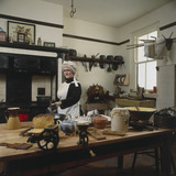 A Victorian kitchen display. This shows a